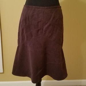Anne Taylor LOFT Petite Microsuede Skirt
